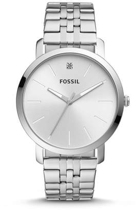Fossil Lux Luther Three-Hand Stainless Steel Watch