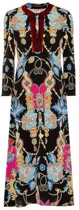Etro Printed crêpe maxi dress