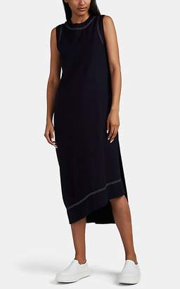 Jil Sander Women's Asymmetric Wool Flannel Dress - Navy