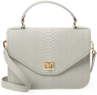 GiGi New York Embossed Leather Crossbody