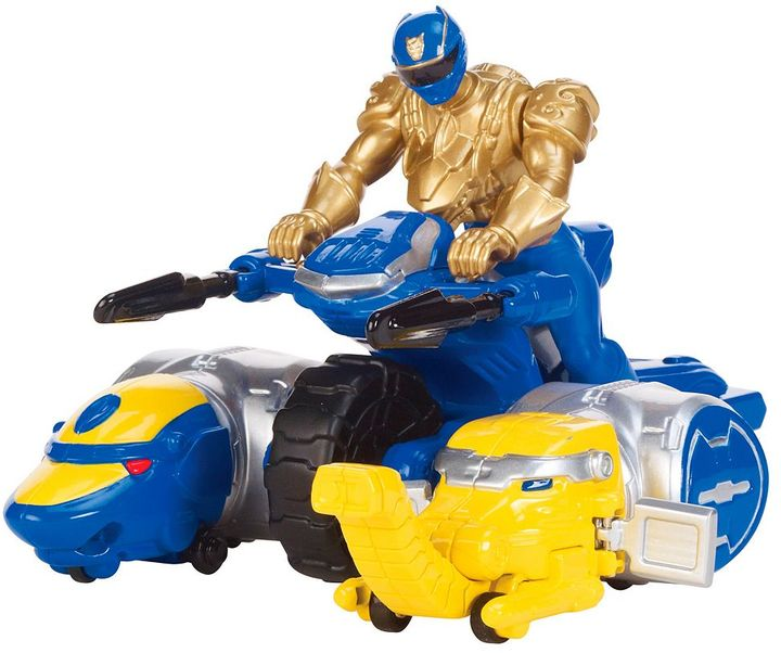 Power Rangers ultra blue ranger & zord vehicle set by bandai
