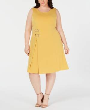 JM Collection Plus Size Sleeveless Embellished Fit & Flare Dress, Created for Macy's