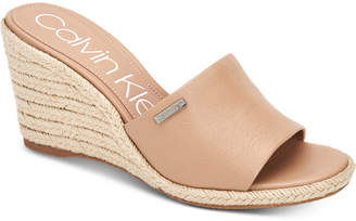Calvin Klein Britta Wedge Sandals, Women Shoes