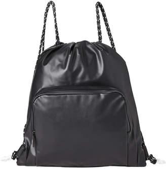 Steve Madden Faux Leather Drawstring Backpack