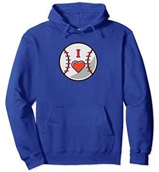 I Love Baseball Fan Hoodie