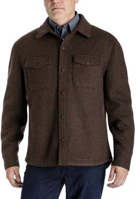 London Fog Towne By Men's Towne by Regular-Fit Wool-Blend Fleece Shirt Jacket