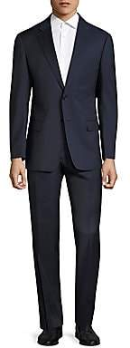 Armani Collezioni Men's Plaid Wool Suit