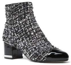 MICHAEL Michael Kors Marcie Tweed Boucle Cap-Toe Booties