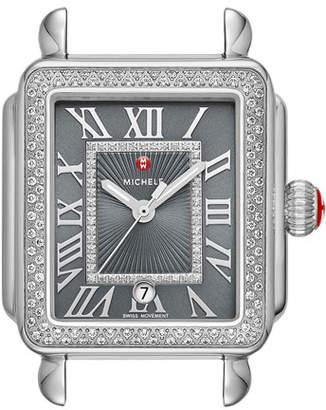 Michele Deco Madison Diamond Watch Head, Gray