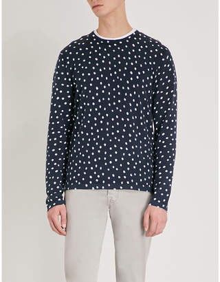 Michael Kors Polka-dot cotton-knitted jumper