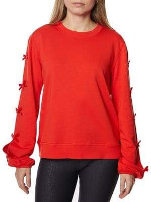 Betsey Johnson Classic Bow Sweatshirt