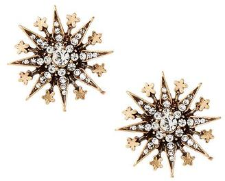 Crystal Starburst Stud Earring $28 thestylecure.com