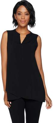 Susan Graver Petite Stretch Woven Sleeveless Tunic