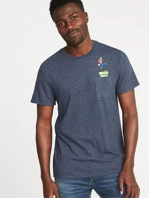 Old Navy Super Mario Graphic Pocket Tee for Men