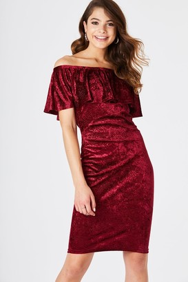 Girls On Film Fulton Red Velvet Bodycon Dress