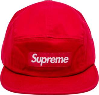 Supreme Washed Chino Twill Camp Cap Red