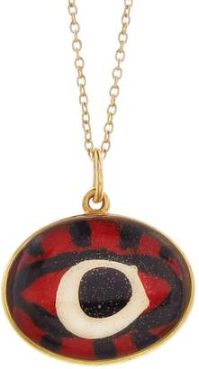 EYE M by Ileana Makri Hand Painted Red Evil Eye Necklace