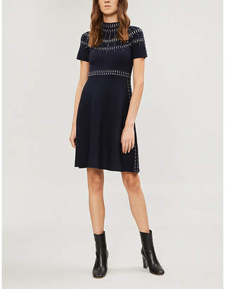 Sandro Crystal-embellished knitted dress