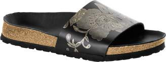 Papillio Womens Cora Narrow Ornaments Smooth Leather Mules Black-Gold