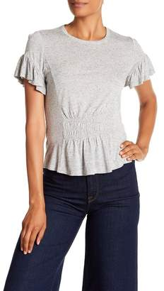 Rebecca Taylor Short Sleeve Ruched Jersey Tee