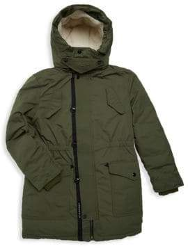 Burberry Little Girl's& Girl's Finlay Faux-Shearling Lined Parka