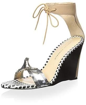 Loeffler Randall Women's Wedge Sandal Tie Ankle Strap