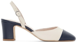 Anne Weyburn Two-tone leather pumps