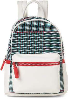 Like Dreams Plaid Faux Leather Backpack