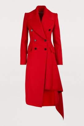Alexander McQueen Wool drape coat