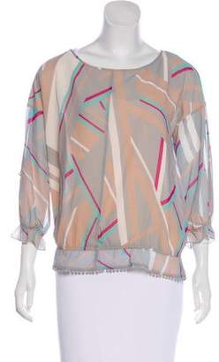 Patrizia Pepe Camicia Sheer Top w/ Tags