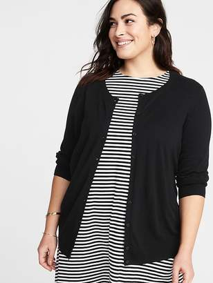 Old Navy Crew-Neck Button-Front Plus-Size Cardi