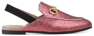 Gucci Children's Princetown glitter slipper