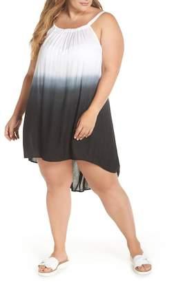 Elan International High\u002FLow Cover-Up Dress (Plus Size)