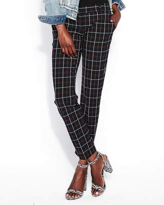 Express Low Rise Plaid Columnist Ankle Pant
