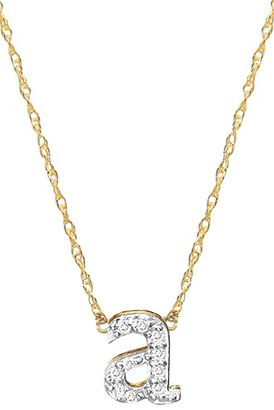 Women's Jane Basch Diamond Initial Pendant Necklace $525 thestylecure.com