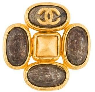 Chanel Two-Tone CC Brooch