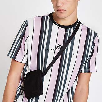 River Island Pink stripe 'Maison Riviera' slim fit T-shirt