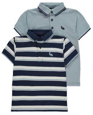 George Blue Striped Polo Shirts 2 Pack