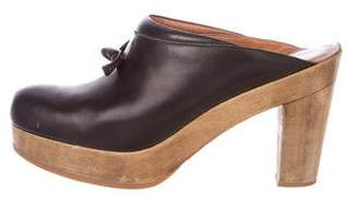 Rachel Comey Leather Round-Toe Clogs
