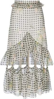 Christopher Kane gingham chain skirt