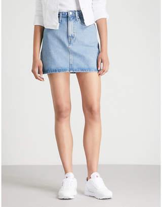 Calvin Klein High-rise denim mini skirt