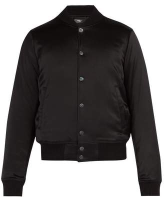Amiri Forever AppliquA Silk Bomber Jacket - Mens - Black