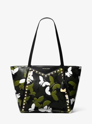 fb112986d30 MICHAEL Michael Kors Whitney Large Butterfly Camo Leather Tote Bag