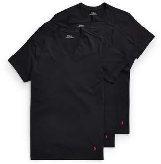 Ralph Lauren Slim Fit V-Neck 3-Pack