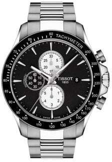 Tissot T-Sport Stainless Steel V8 Automatic Chronograph Bracelet Watch