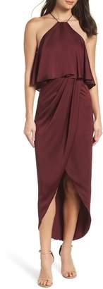 Shona Joy Ruffle Halter Tulip Gown
