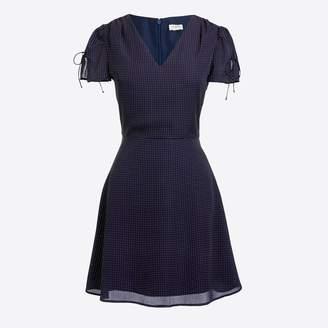 J.Crew Factory Printed short-sleeve tie-shoulder dress
