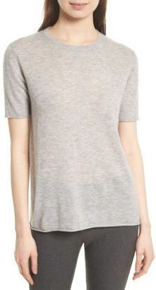 Women's Joseph Short Sleeve Cashmere Tee $355 thestylecure.com