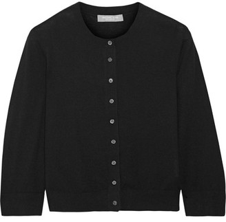 Michael Kors Collection - Cropped Cashmere Cardigan - Black $595 thestylecure.com