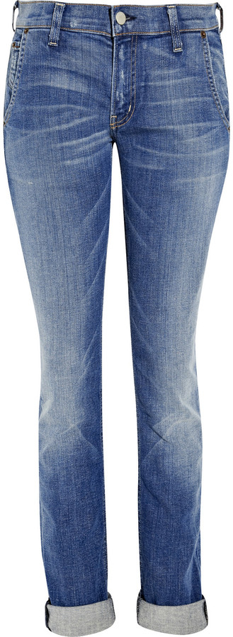 TEXTILE Elizabeth and James Iggy mid-rise straight-leg jeans
